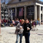 With Peggy White at Quincy Market in Boston, MA