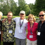 With my Band at the Stewart Park Festival, 2013
